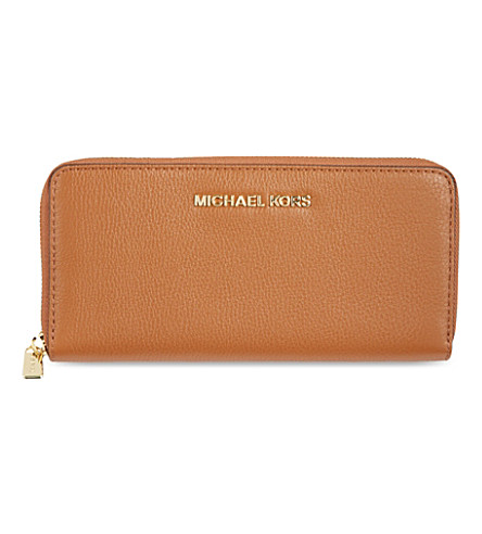MICHAEL MICHAEL KORS Bedford leather wallet (Luggage