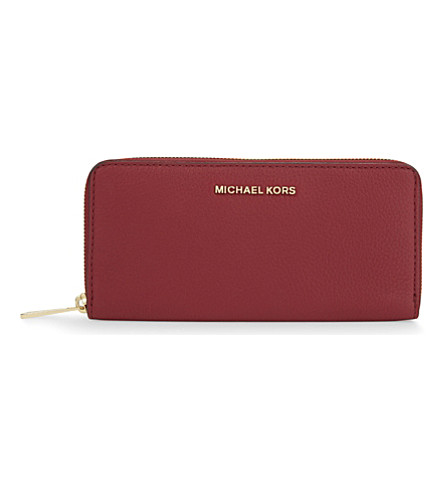 MICHAEL MICHAEL KORS Bedford leather continental wallet (Cherry