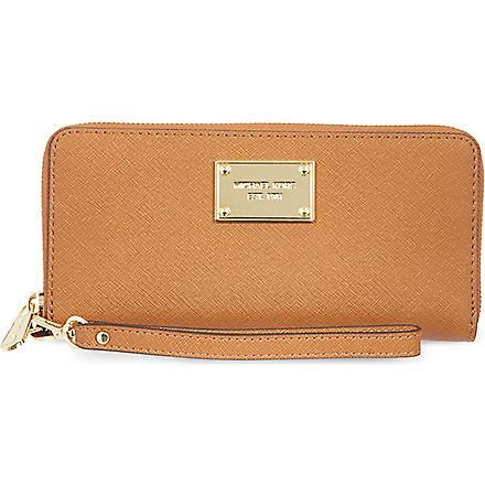 MICHAEL MICHAEL KORS Saffiano iPhone wallet (Luggage