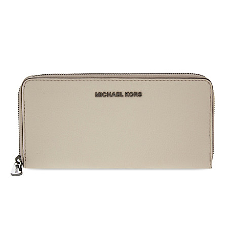 MICHAEL MICHAEL KORS Bedford continental leather wallet (Cement