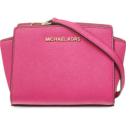 MICHAEL KORS Selma mini messenger satchel (Raspberry
