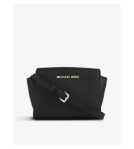 e6d3b47f2c0e ... MICHAEL MICHAEL KORS Selma mini cross-body satchel (Black. PreviousNext