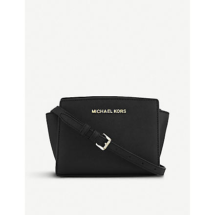 MICHAEL KORS Selma mini cross-body satchel (Black
