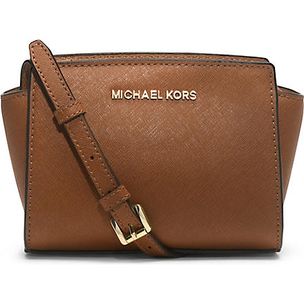 MICHAEL KORS Selma mini cross-body satchel (Luggage