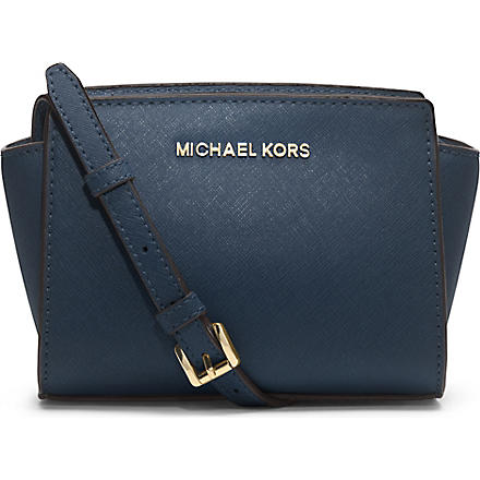 MICHAEL KORS Selma mini cross-body satchel (Navy