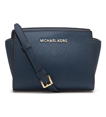 MICHAEL MICHAEL KORS Selma mini cross-body satchel (Navy