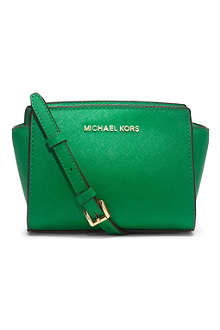 MICHAEL KORS Selma mini leather cross-body satchel