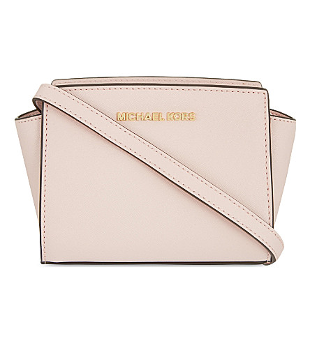 MICHAEL MICHAEL KORS Selma mini Saffiano leather messenger bag (Blossom