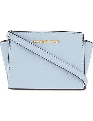 MICHAEL MICHAEL KORS Selma mini Saffiano leather messenger bag