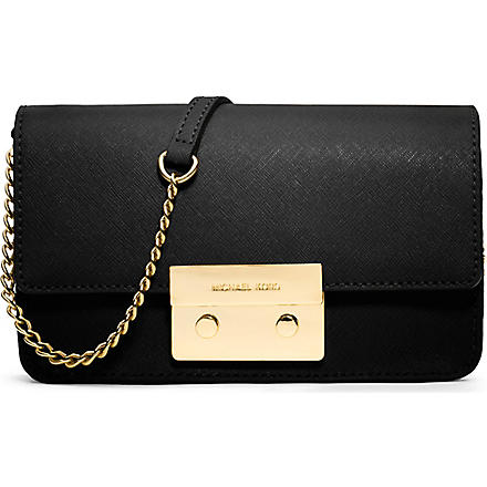 MICHAEL KORS Sloan mini saffiano leather cross-body bag (Black