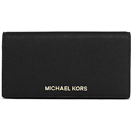 MICHAEL KORS Slim saffiano leather wallet (Black