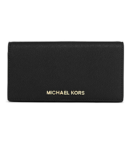 MICHAEL MICHAEL KORS Slim saffiano leather wallet (Black