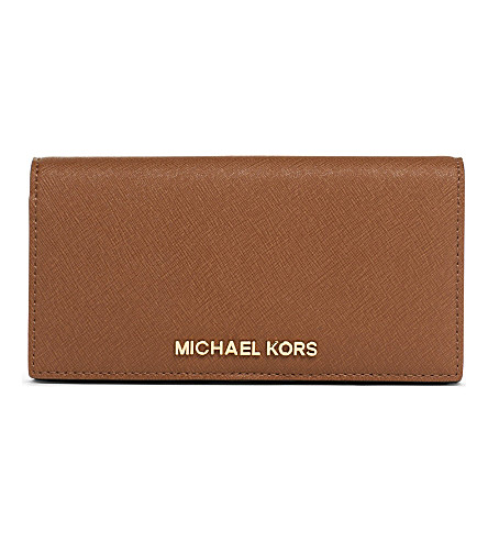 MICHAEL MICHAEL KORS Slim saffiano leather wallet (Luggage