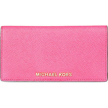 MICHAEL MICHAEL KORS Jet Set slim wallet (Raspberry