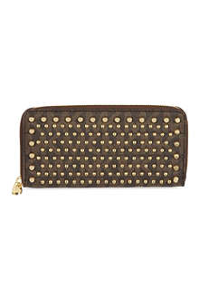 MICHAEL KORS Jet Set Continental studded wallet