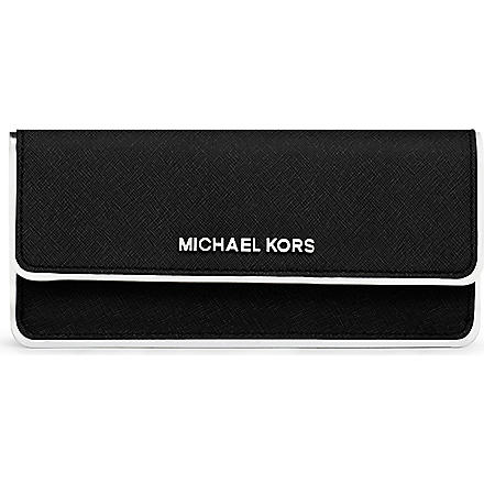 MICHAEL KORS Specchio flat leather wallet (Black