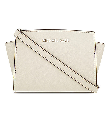 MICHAEL MICHAEL KORS Selma mini leather messenger bag (Cement