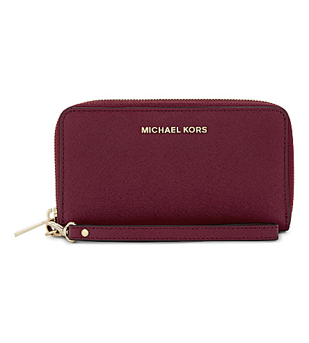 MICHAEL MICHAEL KORS Stripe leather mini purse (Cherry
