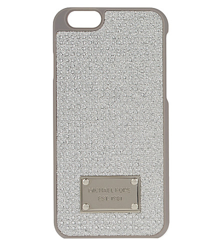MICHAEL MICHAEL KORS Glitter and crystal iPhone 6 case (Crystal
