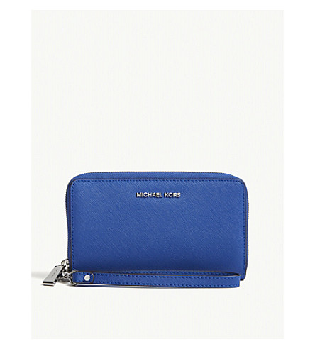 MICHAEL MICHAEL KORS Jet set travel leather purse (Elctric blue