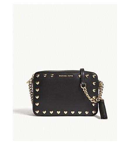 MICHAEL MICHAEL KORS Ginny leather camera bag (Black