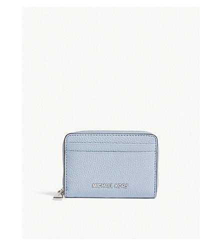 MICHAEL MICHAEL KORS Jet Set small leather wallet (Pale+blue