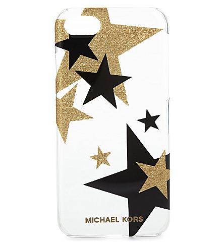 MICHAEL MICHAEL KORS 星-打印夹式 iPhone 外壳 (清晰/