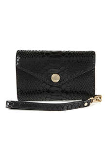 MICHAEL KORS Python-embossed iPhone wallet wristlet