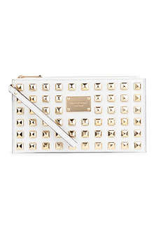 MICHAEL KORS Pyramid stud zip clutch