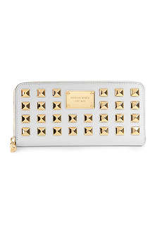 MICHAEL KORS Pyramid stud saffiano leather wallet