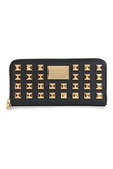 MICHAEL KORS Pyramid studded saffiano leather wallet