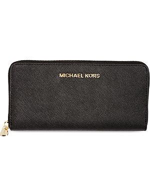 MICHAEL MICHAEL KORS Jet Set saffiano leather wallet