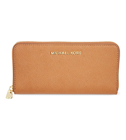 MICHAEL MICHAEL KORS Jet Set saffiano leather wallet (Luggage