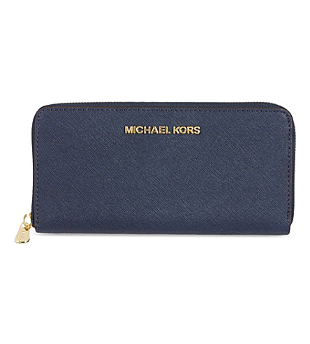 MICHAEL MICHAEL KORS Saffiano leather wallet (Navy