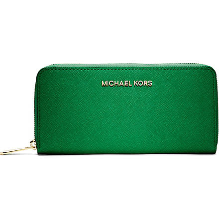 MICHAEL KORS Saffiano leather wallet (Palm