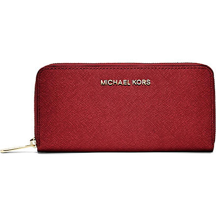 MICHAEL KORS Saffiano wallet (Red