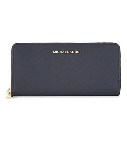 MICHAEL MICHAEL KORS Jet Set Travel leather continental wallet (Admiral