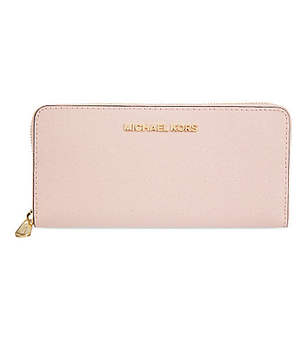 MICHAEL MICHAEL KORS Jet Set leather continental travel wallet (Blossom