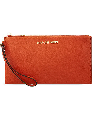 MICHAEL MICHAEL KORS Leather travel clutch bag