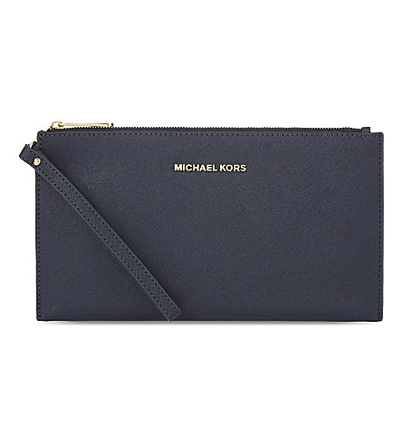 MICHAEL MICHAEL KORS Jet set travel leather pouch (Admiral