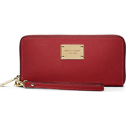 MICHAEL KORS Saffiano leather iPhone wallet (Red