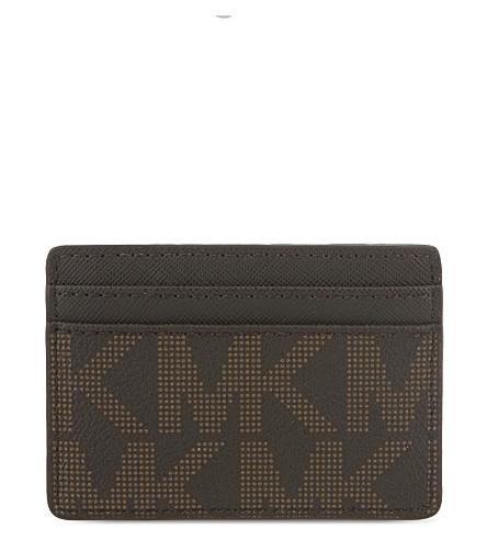MICHAEL MICHAEL KORS Jet Set Travel leather card holder (Brown