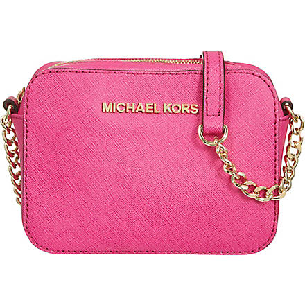MICHAEL KORS Jet Set cross-body bag (Raspberry