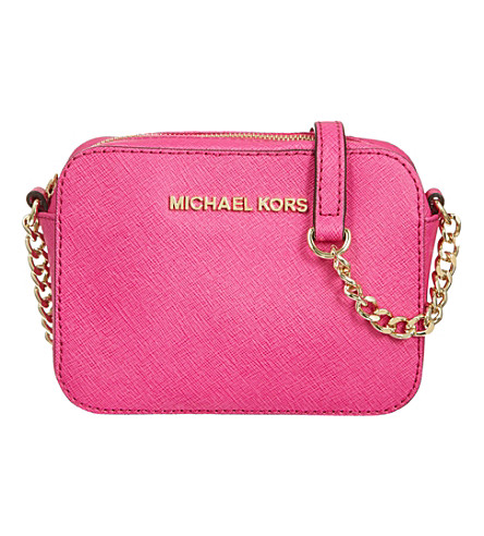 MICHAEL MICHAEL KORS Jet Set cross-body bag (Raspberry