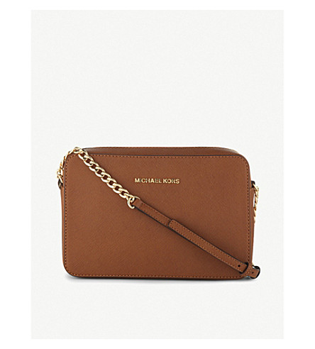 MICHAEL MICHAEL KORS Saffiano leather cross-body bag (Acorn