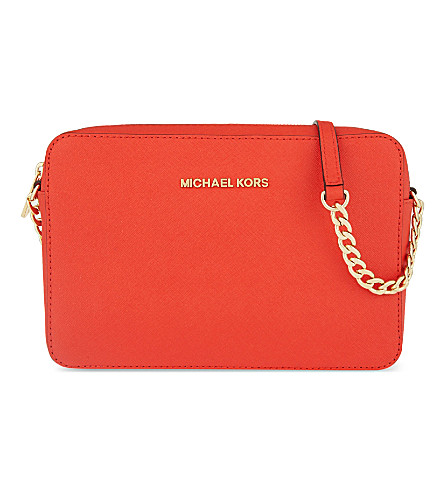 MICHAEL MICHAEL KORS Jet Set Travel saffiano cross-body bag (Mandarin