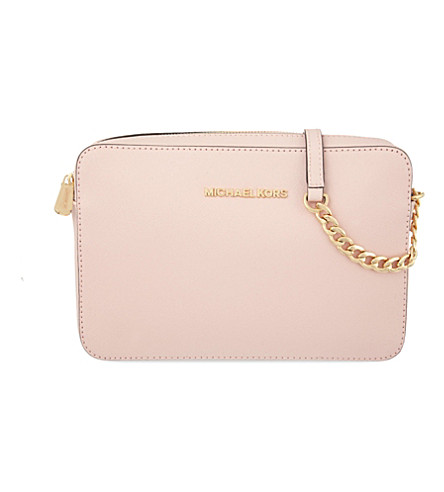 MICHAEL MICHAEL KORS Jet Set Travel leather cross-body bag (Blossom