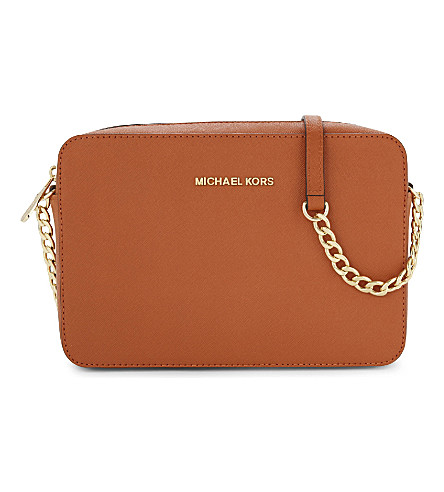 MICHAEL MICHAEL KORS Jet Set Travel leather cross-body bag (Orange