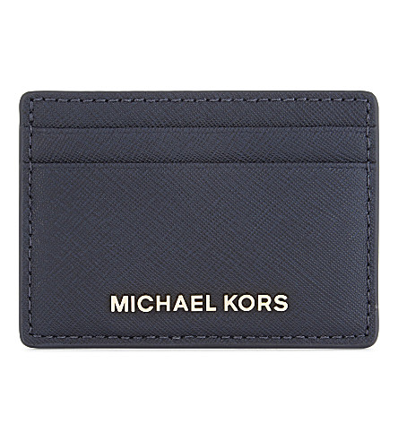 MICHAEL MICHAEL KORS Jet Set Travel leather card holder (Admiral