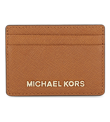 MICHAEL MICHAEL KORS Jet Set Travel leather card holder (Luggage